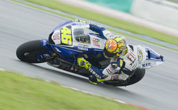 Italian Valentino Rossi of Fiat Yamaha Team Royalty Free Stock Images