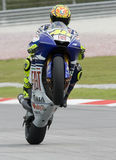 Italian Valentino Rossi of Fiat Yamaha Team Stock Images