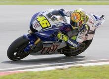 Italian Valentino Rossi of Fiat Yamaha Team Royalty Free Stock Photos
