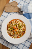 Italian vegetable minestrone soup in a bowl Royalty Free Stock Images