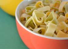 Italian Vegetable Pasta for  children Royalty Free Stock Photo