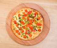 Italian vegetables  pizza.Neapolitano Stock Image