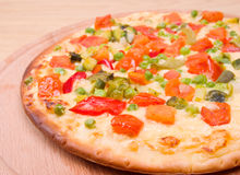 Italian vegetables  pizza.Neapolitano ,Close-up Royalty Free Stock Image