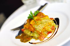 Italian vegetarian lasagne Royalty Free Stock Photos