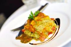 Italian vegetarian lasagne Royalty Free Stock Photos