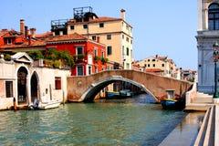 Italian Venice. Bridge Stock Photo