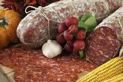 Italian ventricina salami Royalty Free Stock Image