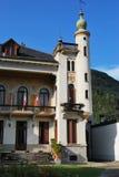 Italian villa. Front view of italian villa in a sunny day, Varallo Sesia, Piedmont, Italy Royalty Free Stock Photo