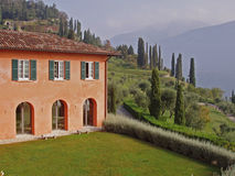 Italian villa in Bellagio on Lake Como Stock Images