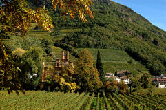 An Italian Villa in Bolzano, Italy. Italian villa located at the edge of the city of Bolzano in northern Italy, surrounded by vineyards Royalty Free Stock Images