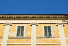 Italian villa with a detailed Greek style columns Royalty Free Stock Image