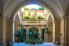 Italian Villa Entrance Stock Photography