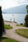 Italian villa garned on Como lake Royalty Free Stock Photo