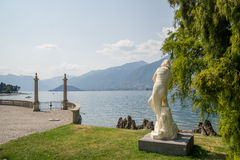 Italian villa garned on Como lake Royalty Free Stock Photography