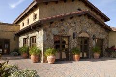 Italian villa home and courtyard plaza Royalty Free Stock Photography