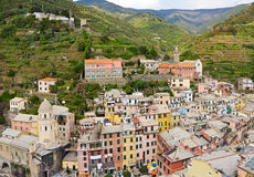 Italian village. Vernazza village in Cinque Terre, Italy Stock Images