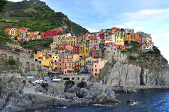 Italian village. In Cinque Terre, Liguria Royalty Free Stock Image