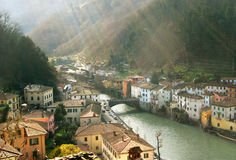 Italian village dawn Stock Photography