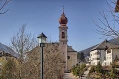 Italian village in Dolomites Royalty Free Stock Photos