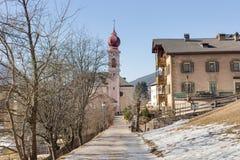 Italian village in Dolomites Stock Images