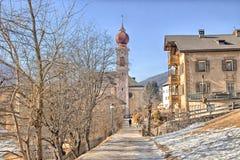 Italian village in Dolomites Stock Photo