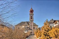 Italian village in Dolomites Stock Photos