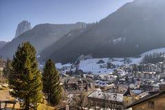 Italian village in Dolomites Royalty Free Stock Image