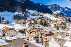 Italian village in Dolomites Royalty Free Stock Images