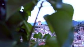 Italian village foreshortening stock video footage