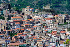 Italian village, sicily. Very beautiful Sicilian village in the countryside (italy) by a sunny day Royalty Free Stock Photos