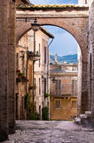 Italian village street Stock Photos