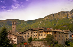 Italian village in Trentino Stock Photography