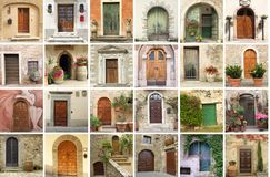 Italian vintage doors collection Royalty Free Stock Photo