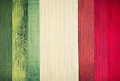 Italian vintage flag background.Wooden plank texture. Italian vintage flag background.Wooden plank italy colors texture stock images