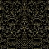 Italian Vintage Seamless Pattern for Wallpaper stock illustration
