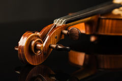 Italian violin over black Royalty Free Stock Image