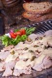 Italian vitello tonnato Stock Photography