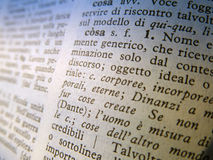 Italian vocabulary Royalty Free Stock Photos
