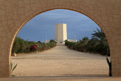 Italian war graves memorial of El Alamein in Egypt Royalty Free Stock Images