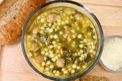 Italian Wedding Soup Stock Image