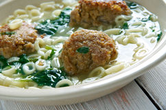 Italian wedding soup Royalty Free Stock Image