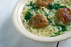 Italian wedding soup Stock Photos