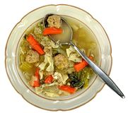 Italian wedding soup Stock Photos