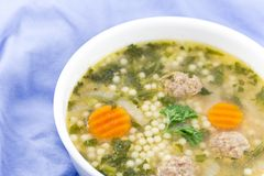 Italian Wedding Soup Royalty Free Stock Photo