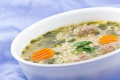 Italian Wedding Soup Stock Photo