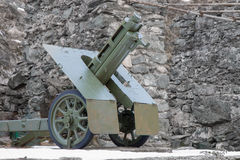 Italian wheeled howitzer 75/18 model 35 used in second world war Stock Photography