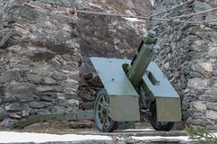 Italian wheeled howitzer used in second world war Stock Photography