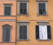 Italian window stock photos