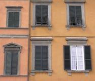 Italian window. Coulorful italian window Stock Photos
