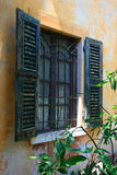 Italian window. In Gabriele D Annunzio II Vittoriale's home Stock Photography